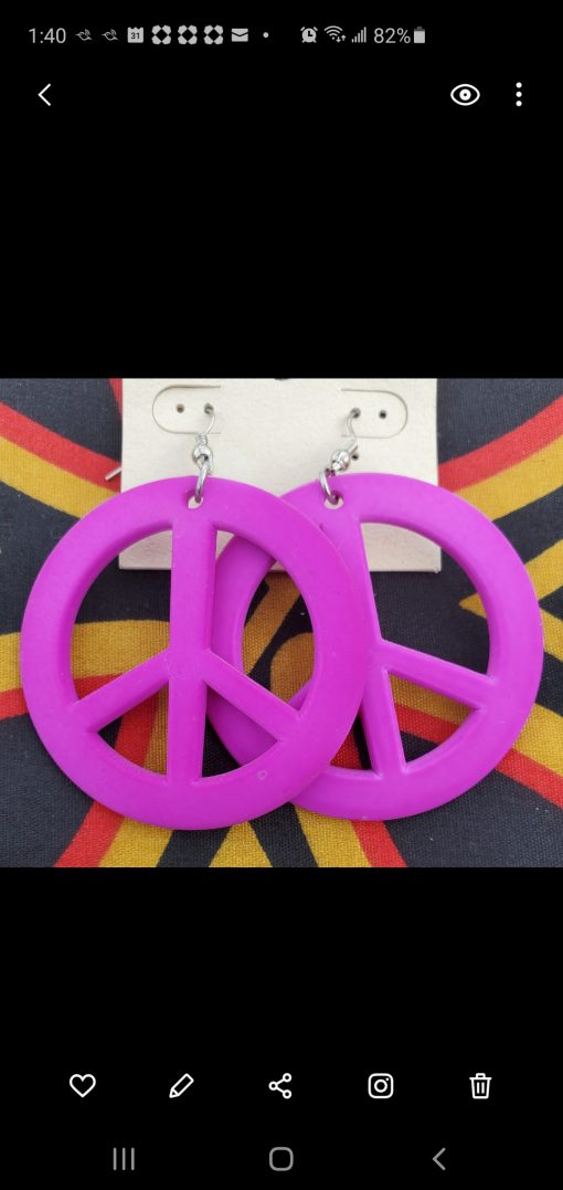 peace-sign-earrings-purple-costume-jewelry-brides-by-tina