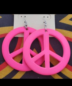 peace-sign-earrings-pink-costume-jewelry-brides-by-tina