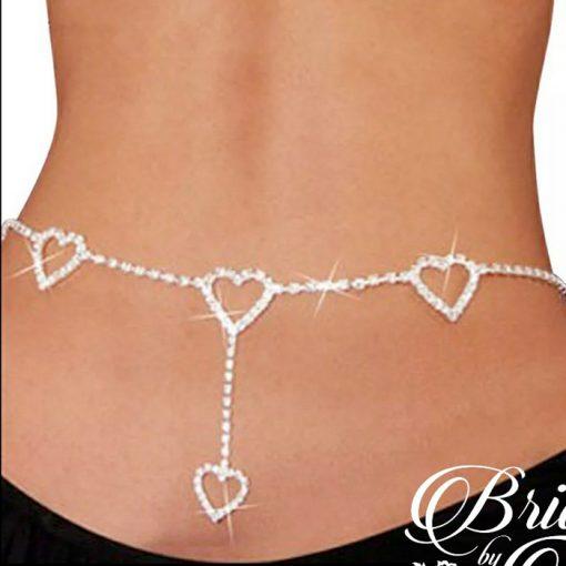 Wedding Bridal Heart Belly Jewelry