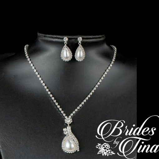 Wedding Jewel Necklace and Earring Set