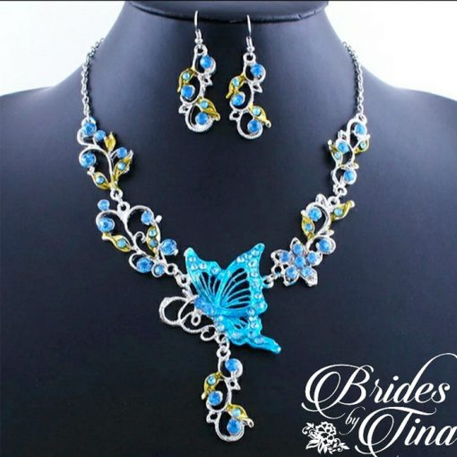Wedding Jewel Necklace and Earring Set