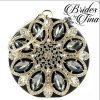 Circle Jeweled Purse Black