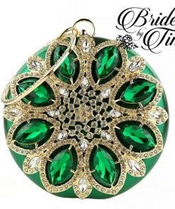 Green Jeweled Circle Purse
