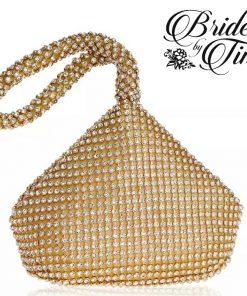 Gold Jeweled Tear Drop Purse