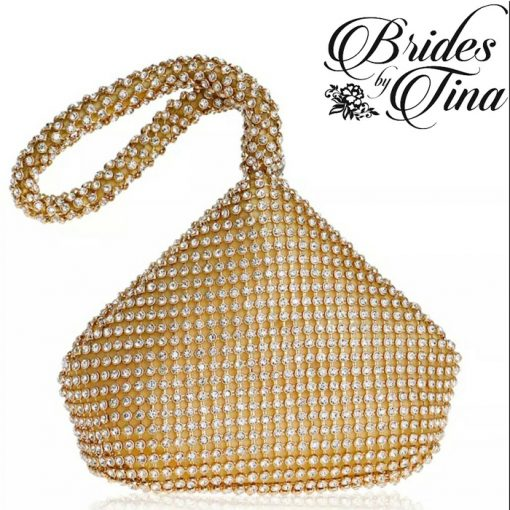 Gold Jeweled Tear Drop Purse