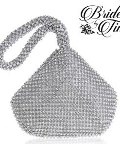Silver Jeweled Tear Drop Purse